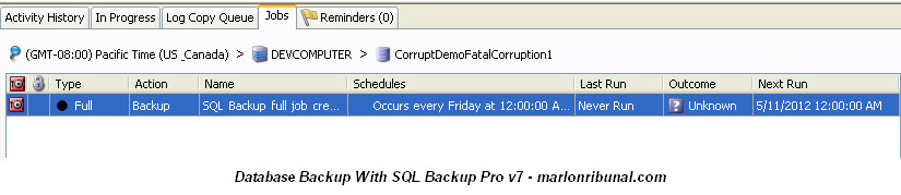 SQL Server backup using SQL Backup Pro from Red Gate