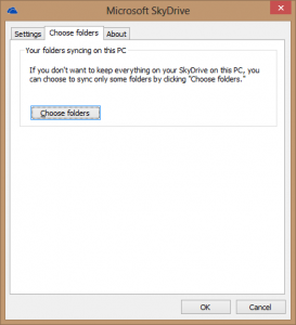 Choose Folders To Sync With SkyDrive