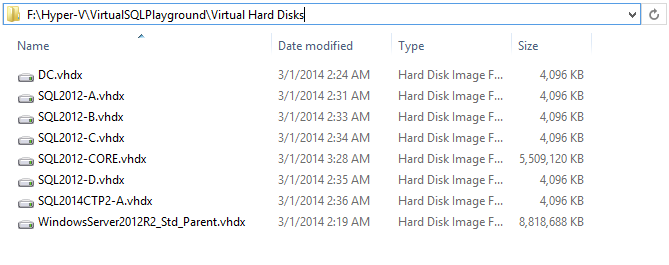 differencing disks on Hyper-V Virtual Machines