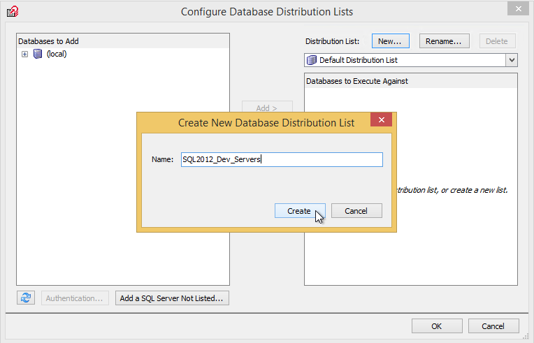 Creating New Distribution List in SQL Multi Script