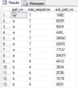 resequencing values in tsql