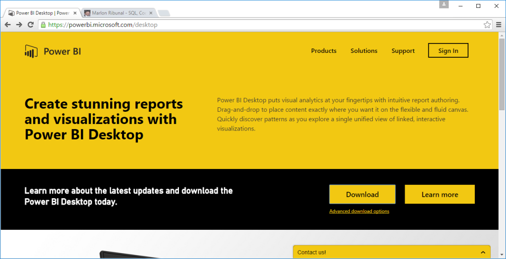 power bi desktop download