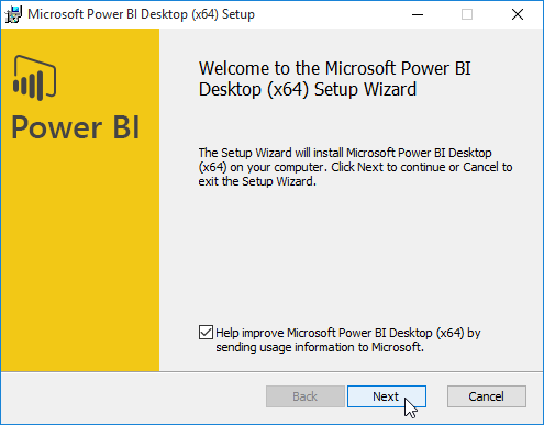 Install Power BI desktop