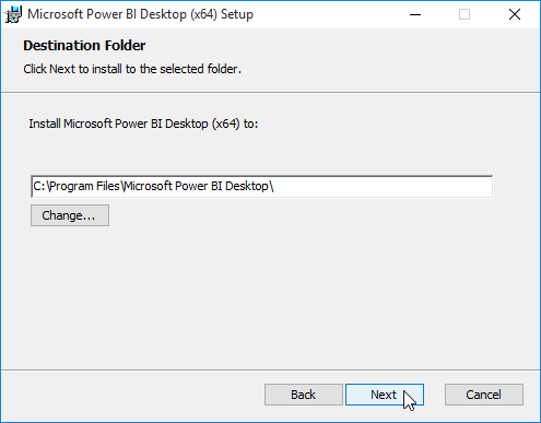 default directory of Power Bi Desktop
