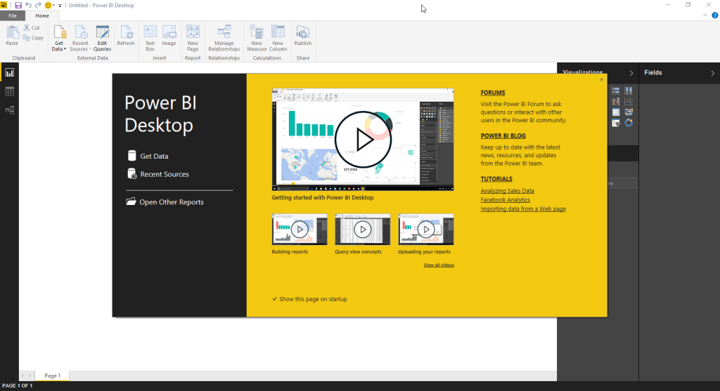 power bi desktop splash