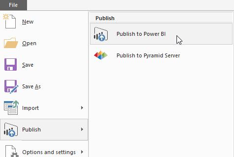 Publish Power BI Report