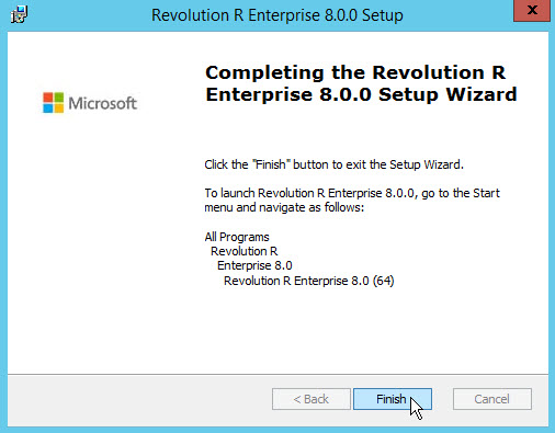 Revolution R Enterprise installation complete
