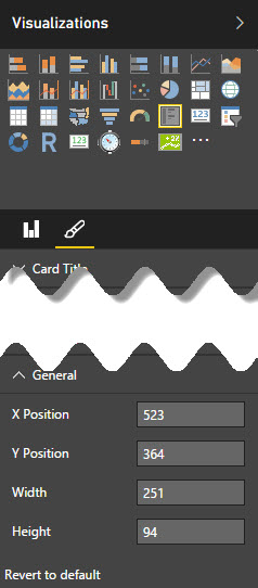 setting visualization properties in Power BI