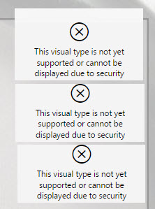 third-party visualization warning on Power BI